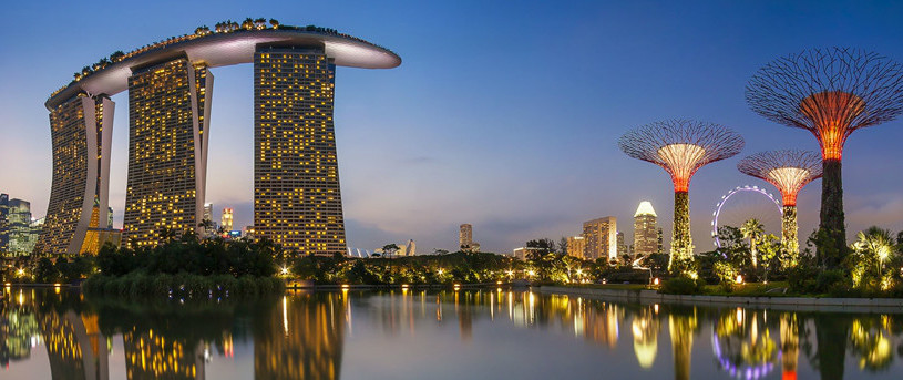 Marina Bay Sands & Gardens by the bay